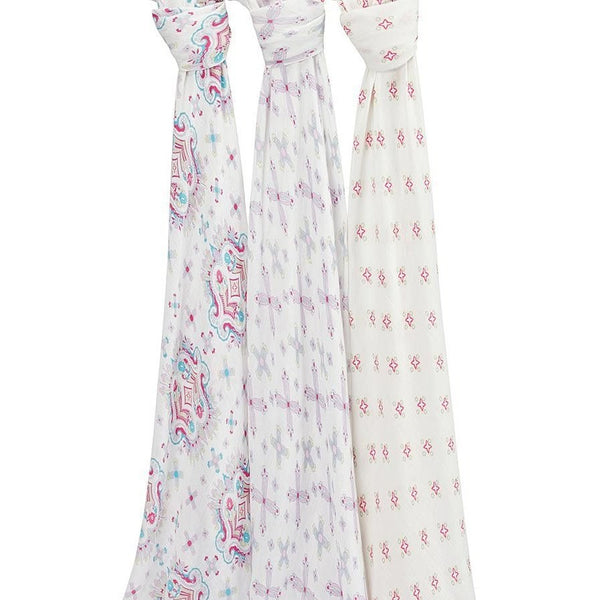 Aden and Anais - Swaddles Flower Child (3 Pack), , swaddle, Aden and Anais, Carry Them Close  - 1