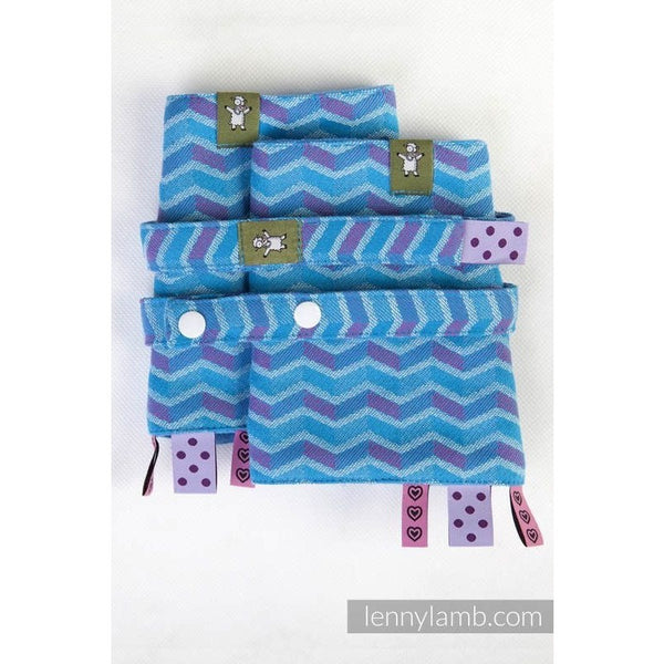 Lenny Lamb - Suck Pads and Reach Strap Set - Zig Zag Turquoise & Pink, , Carrier Accessories, Lenny Lamb, Carry Them Close  - 1