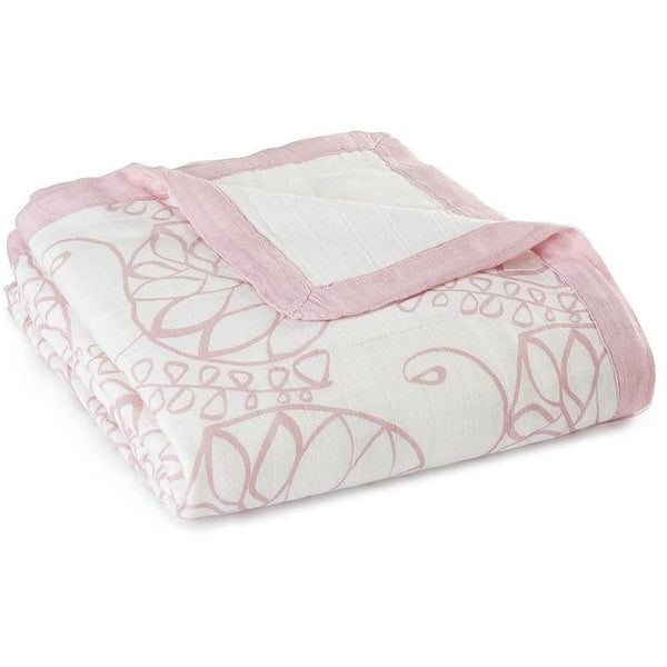 Aden and Anais - Dream Blankets Bamboo tranquility - leafy, , Baby Blankets, Aden and Anais, Carry Them Close  - 1