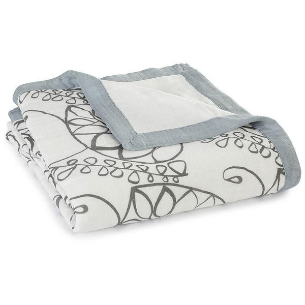 Aden and Anais - Dream Blankets Bamboo Moonlight - leafy, , Baby Blankets, Aden and Anais, Carry Them Close  - 1