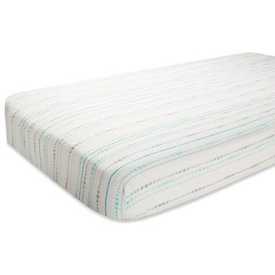 Aden and Anais - Cot Sheet - Bamboo Azure - nursery - Aden and Anais - Afterpay - Zippay Carry Them Close