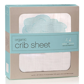 Aden and Anais - Organic Cot Sheet - Sky Blue