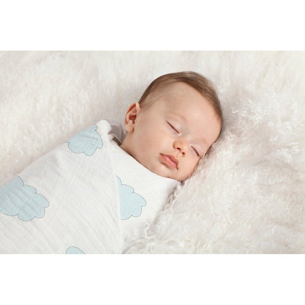 Aden and Anais - Swaddle - Sky Blue (Organic), , swaddle, Aden and Anais, Carry Them Close  - 1