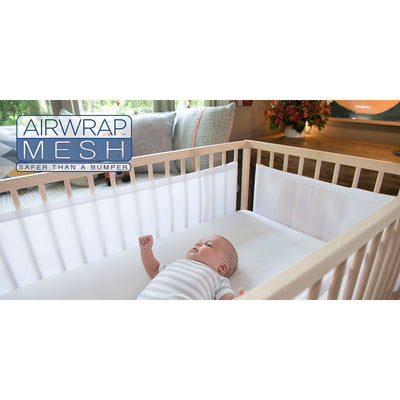 Airwrap Mesh Cot Liner - 2 Sides White - Bedding - Airwrap - Afterpay - Zippay Carry Them Close