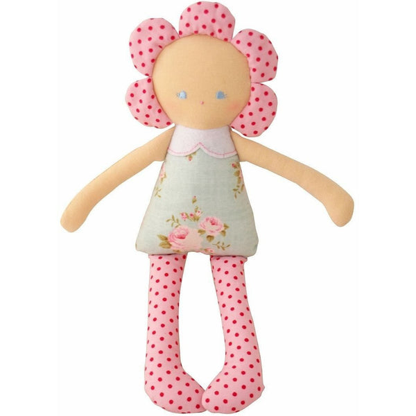 Alimrose - Daisy Doll Rattle - Rosy Posy, , Toys, Alimrose, Carry Them Close  - 1