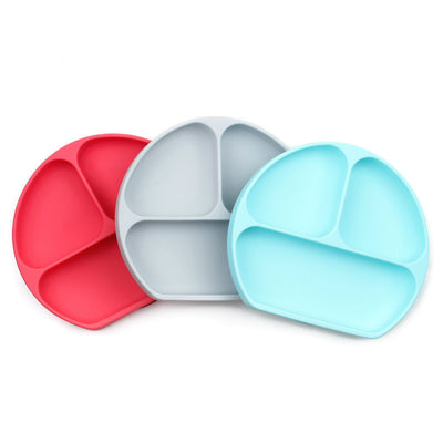 Bumkins - Silicone Grip Dish - Red