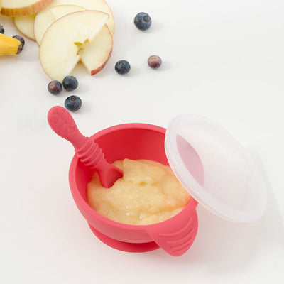 Bumkins - Silicone Grip First Foods Bowl Set - Red