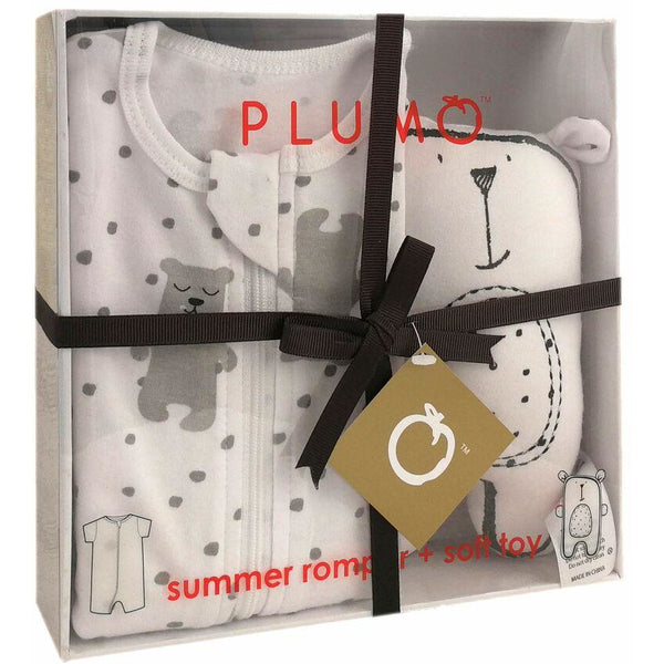 Plum Gift Pack - Baby Romper & Soft Toy - Bears