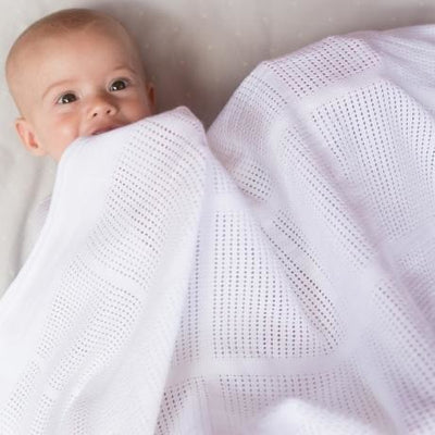 Little Bamboo - Airflow Cellular Cot Blanket - Baby Blankets - Little Bamboo - Afterpay - Zippay Carry Them Close