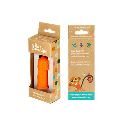 Brushie - Silicone Finger Gum and Toothbrush - Momo the Monkey
