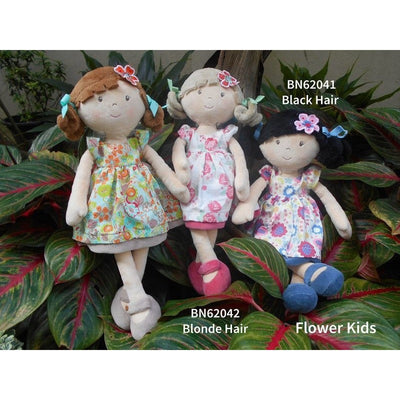 Bonikka - Flower Kids Black Hair - Toys - Bonikka - Afterpay - Zippay Carry Them Close