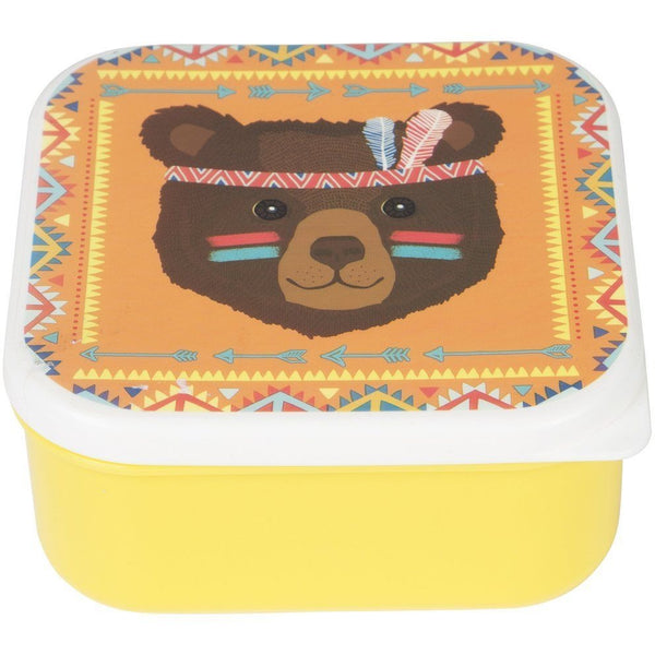 Sass & Belle Snack Box - Tribal Adventure Bear