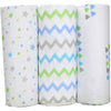 Bubble - Baby Swaddle Bamboo Big Blue Sky (Set of 3) - swaddle - Bubble - Afterpay - Zippay Carry Them Close