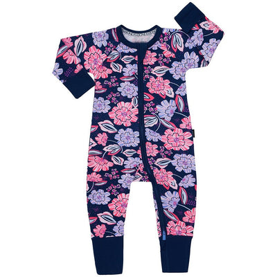 Bonds - Zip Wondersuit - MIDNIGHT FLORAL