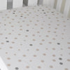 Little Turtle Baby - Fitted Cot Sheet - Beige & Grey Spots