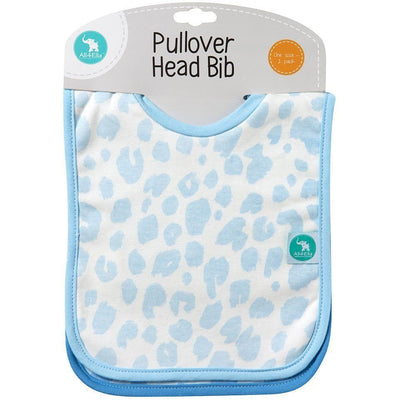 All4Ella Bibs Pull over Head (Set 2) - Leopard Blue - Clothing - All4Ella - Afterpay - Zippay Carry Them Close