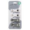 All4Ella Pram Pegs (4set) -  White / Grey (Two Tone)