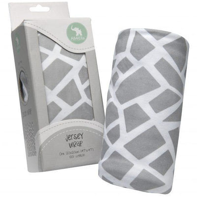 All4Ella Jersey Baby Swaddle Wrap - Geometric Grey - Swaddle - All4Ella - Afterpay - Zippay Carry Them Close