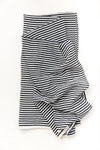 Clementine Kids - Cotton Muslin Baby Swaddle - Black & White Stripe