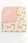 Clementine Kids - Reversible Muslin Blanket Quilt - Blush Bloom