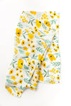 Clementine Kids - Cotton Muslin Baby Swaddle - Buttercup Blossom