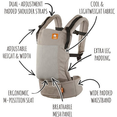 Tula Free-To-Grow Carrier - Coast Overcast - Baby Carrier - Tula - Afterpay - Zippay Carry Them Close