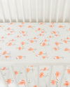 Little Unicorn - Cotton Muslin Cot Sheet - Pink Ladies