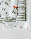 Little Unicorn - Cotton Muslin Baby Swaddle (Set 3) - Forest Friends