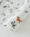Little Unicorn - Cotton Muslin Baby Swaddle - Forest Friends
