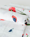 Little Unicorn - Cotton Muslin Baby Swaddle (Set 3) - Summer Poppy