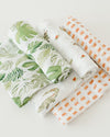 Little Unicorn - Cotton Muslin Baby Swaddle (Set 3) - Gators