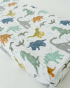 Little Unicorn - Changing Pad Cover - Dino Friends