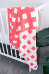 Emotion & Kids - Bassinet Blanket - Watermelon Check