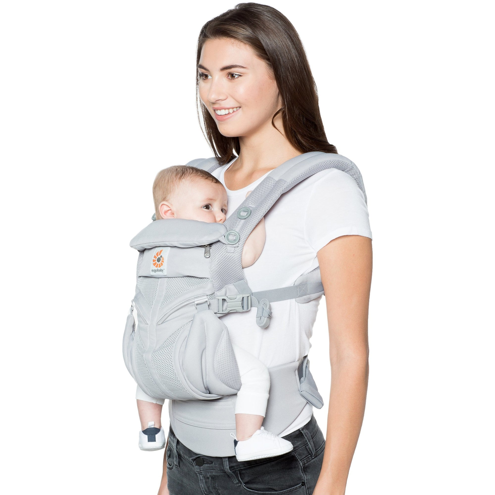 6bb8caea843 Ergobaby Omni 360 Cool Air Mesh Carrier - Pearl Grey - Baby Carrier -  Ergobaby -