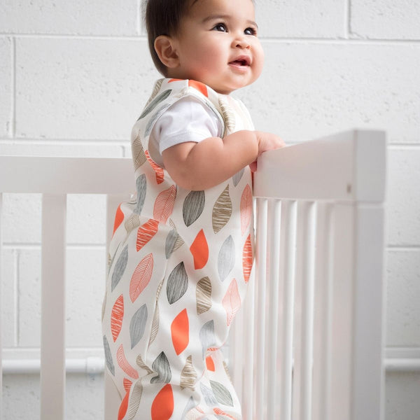 ErgoPouch - Jersey Sleeping Bag Spring/Autumn (1TOG) - Blush Leaf - Swaddle - ErgoCocoon - Carry Them Close