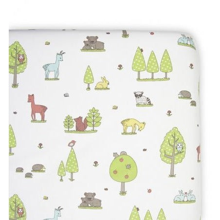 Weegoamigo Fitted Cot Sheet - Forest Friends