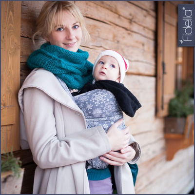 Fidella Ring Sling - Iced Butterfly - Smoke - Ring Sling - Fidella - Afterpay - Zippay Carry Them Close
