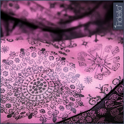 Fidella Woven Wrap - Iced Butterfly -violet - Woven Wrap - Fidella - Afterpay - Zippay Carry Them Close