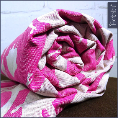 Fidella Woven Wrap - Sirens - raspberry - Woven Wrap - Fidella - Afterpay - Zippay Carry Them Close