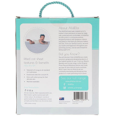 All4Ella - Fitted Jersey Bassinet Sheet - Marle Grey - Bedding - All4Ella - Afterpay - Zippay Carry Them Close