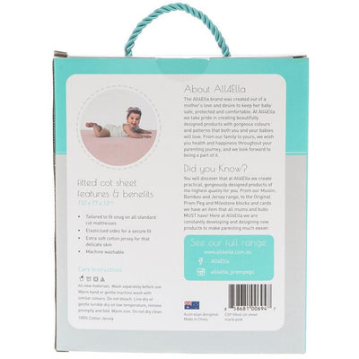 All4Ella - Fitted Jersey Cot Sheet - Marle Pink - Bedding - All4Ella - Afterpay - Zippay Carry Them Close