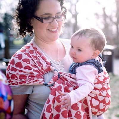 Didymos Ring Sling (DidySling) - Graziela Hearts - Ring Sling - Didymos - Afterpay - Zippay Carry Them Close