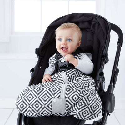 Grobag - Diamonds Black Travel 2.5 Tog - Baby Sleeping Bags - The Gro Company - Afterpay - Zippay Carry Them Close