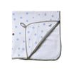 Little Turtle Baby - Hooded Towel - Pale Blue & Grey Spots