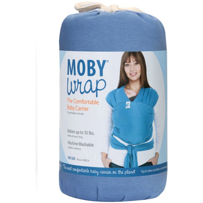 Moby Wrap - Indigo - Stretchy Wrap - Moby - Afterpay - Zippay Carry Them Close