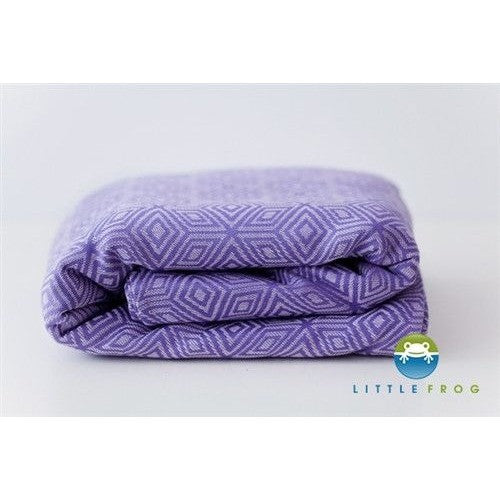 Little Frog Woven Wrap - Jacquard Lavender Cube, , Woven Wrap, Little Frog, Carry Them Close
