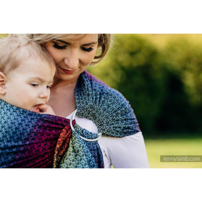 Lenny Lamb Ring Sling - LITTLE LOVE RAINBOW DARK - Ring Sling - Lenny Lamb - Afterpay - Zippay Carry Them Close