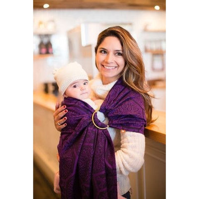 Tula Ring Sling - Lalka Plum - Wrap Conversion - Ring Sling - Tula - Afterpay - Zippay Carry Them Close