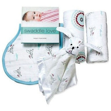 Aden and Anais - Gift Set - Liam the brave - swaddle - Aden and Anais - Afterpay - Zippay Carry Them Close