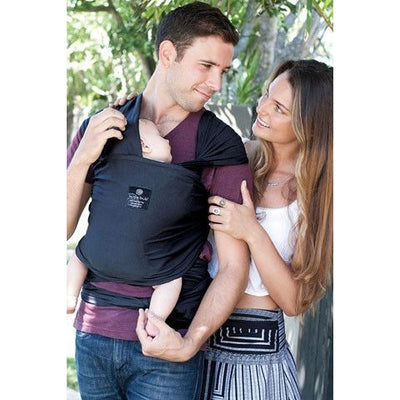 Hug a Bub Organic Lightweight Stretchy Wrap Carrier - Charcoal - Stretchy Wrap - hug.a.bub - Afterpay - Zippay Carry Them Close